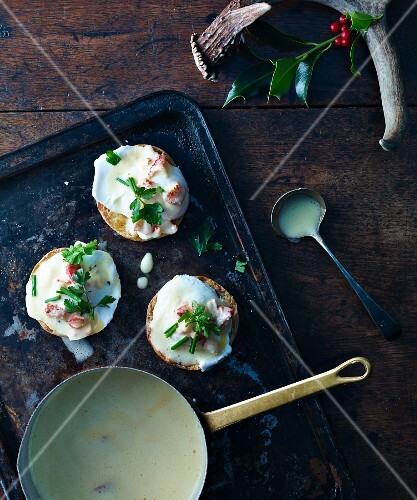 Eggs Benedict with lobster