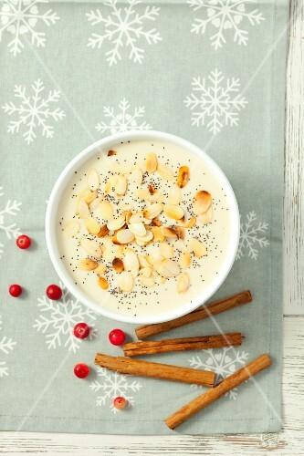 Christmas almond soup