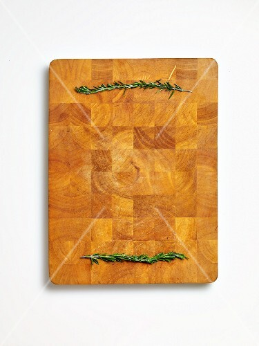 Rosemary on a chopping board