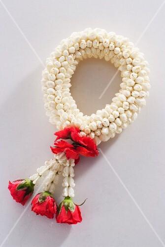 A Buddhist flower garland from Thailand