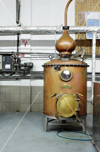 An ouzo factory in Greece