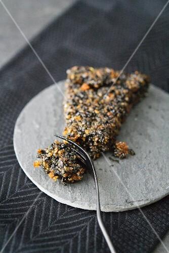 Nougat with black sesame seeds