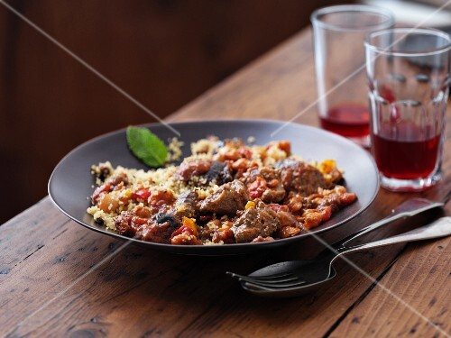 Beef tagine with couscous