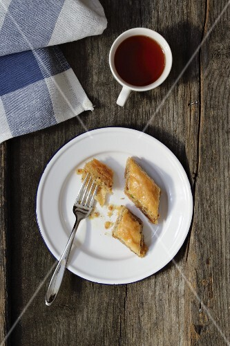Baklava and a cup of tea