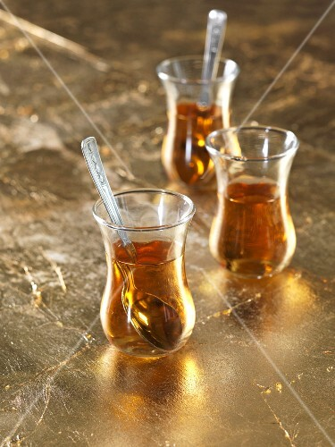 Glasses of Turkish tea