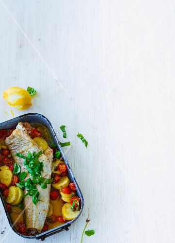 Oven-baked cod