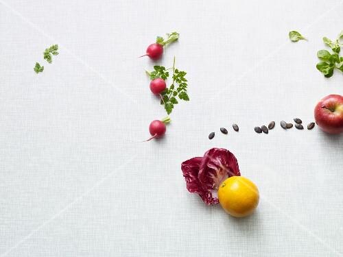 Ingredients for a side salad