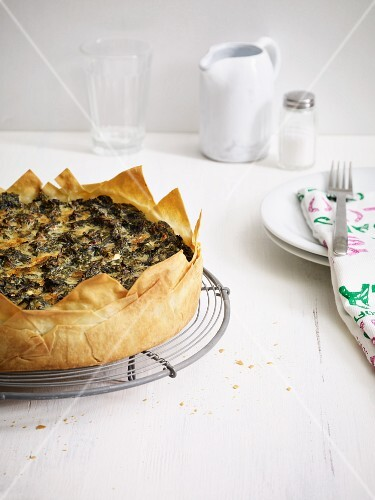 Spinach and feta cheese cake