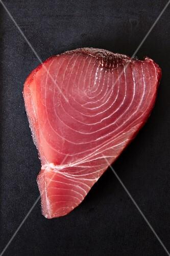 A fresh tuna steak