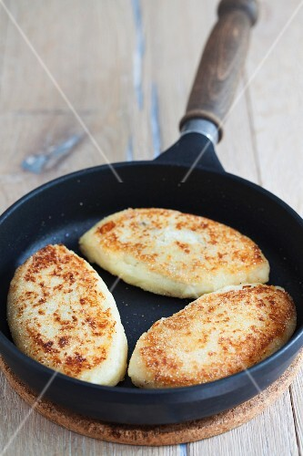 Russian potato cakes with a mushroom filling