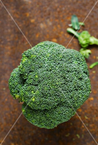 Broccoli seen from above