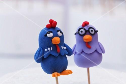 Funny cake pop chickens