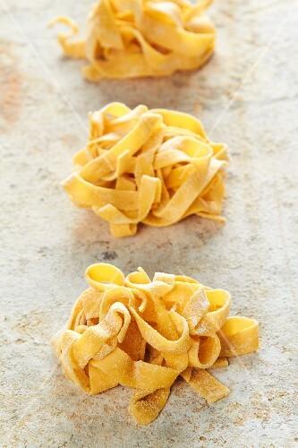 Fresh, homemade egg pasta