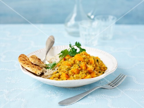 Vegetarian lentil curry (India)
