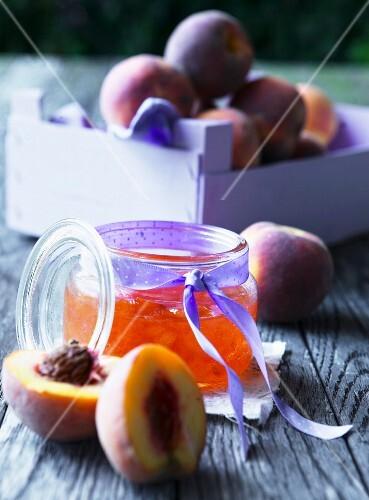 Home made peach jam