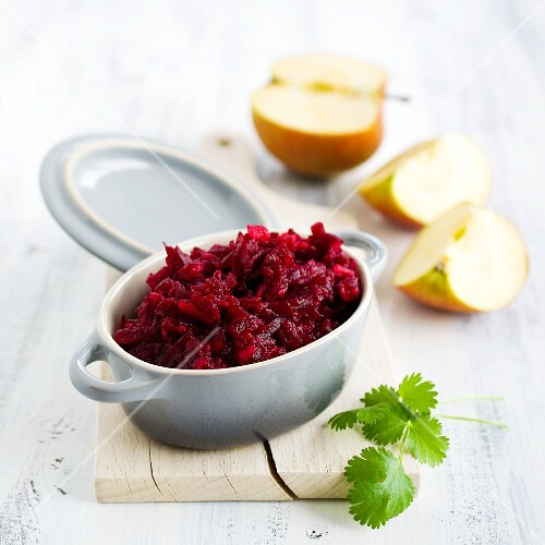 Beetroot and apple salad with horseradish