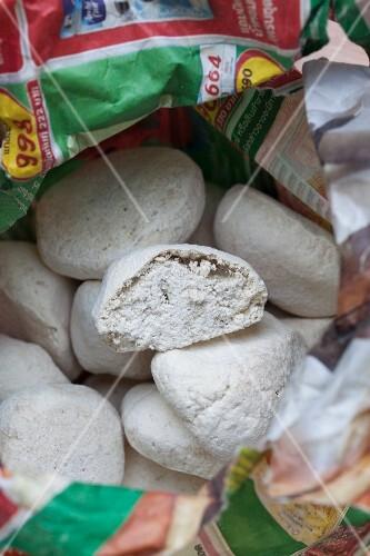A sack of dough balls (Thailand)