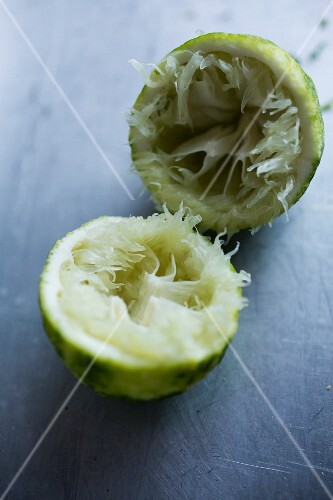 Squeezed lime halves
