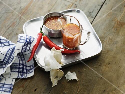 A garlic and chilli marinade