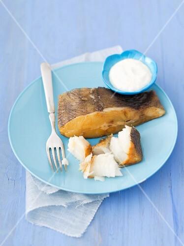 Smoked halibut with horseradish sauce