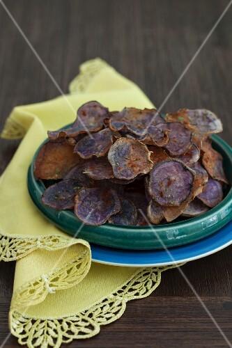 Purple potato crisps