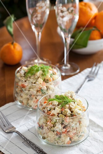 Salad Olivier – Russian potato salad