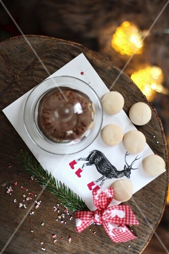 Christmas chocolate biscuits and macaroons