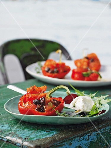 Burrata with peppers alla piemontese