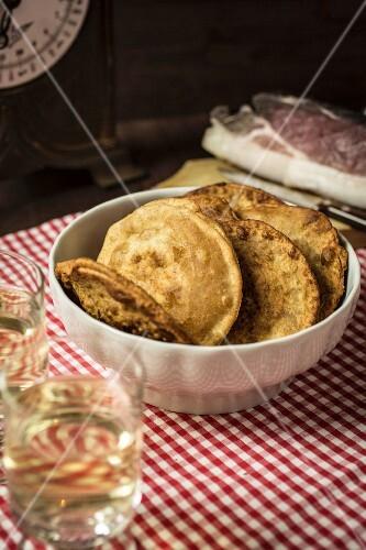 South Tyrolean Tirteln (fried, stuffed pastries)