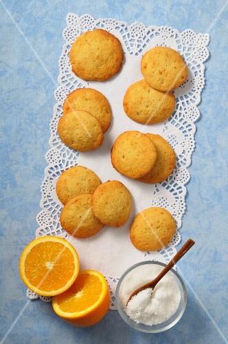 Palets a la orange (French orange biscuits)