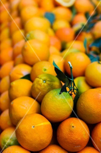 Oranges at a market