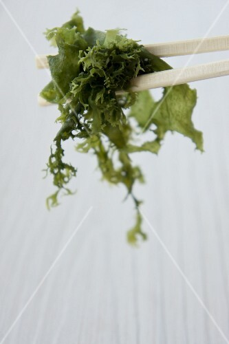 Algae on chopsticks (Japan)