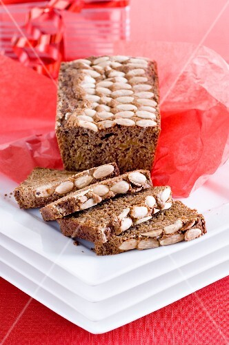 Gingerbread cake with almonds for Christmas