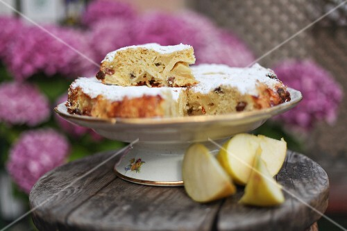 Apple Cake with a Slice Removed