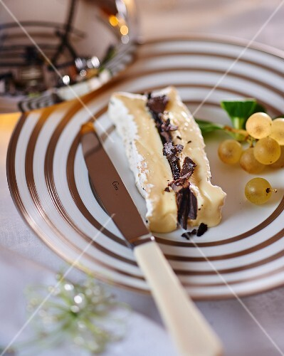 Brie with black truffles for Christmas
