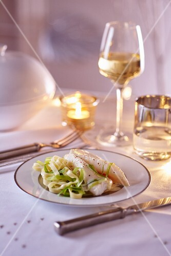 John Dory with tagliatelle for Christmas