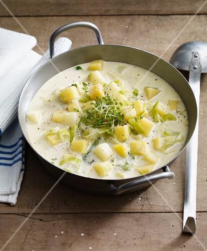 Creamy turnip stew with potatoes