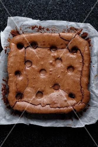 Chocolate and caramel brownies