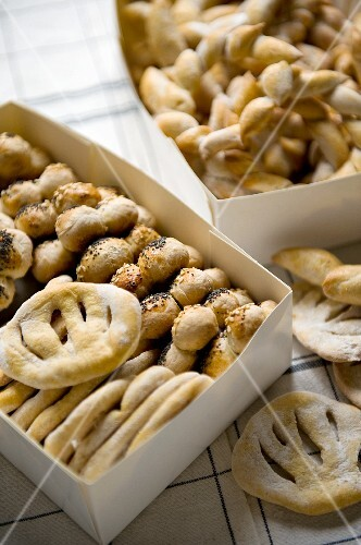 Fougasse and stuffed bread rolls