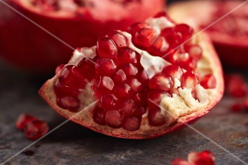 Piece of pomegranate (close-up)