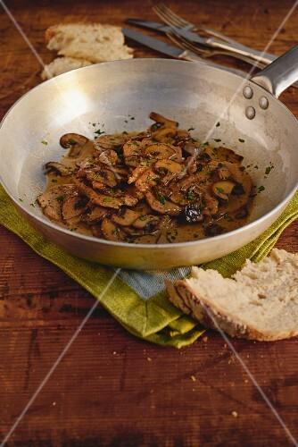 Italian scaloppine with marsala mushrooms