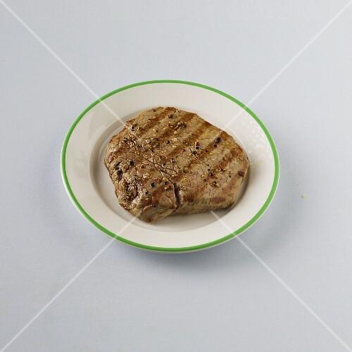 A grilled fillet steak