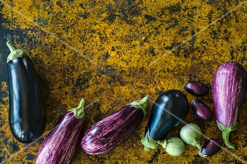 Assorted eggplants