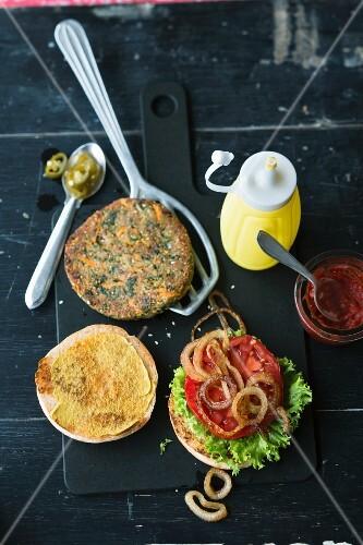 A vegan Tex Mex burger