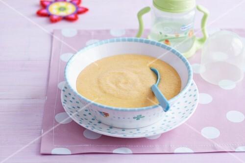 Carrot and spelt porridge