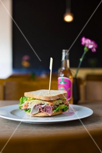 A Reuben sandwich in 'Café Cantona', Leipzig