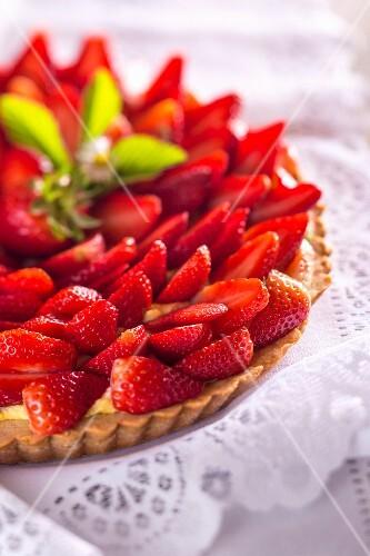 Strawberry tart (detail)