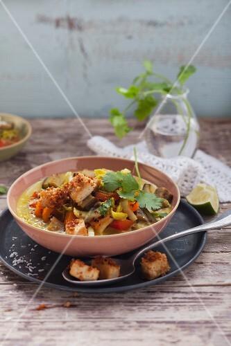 Gemüsecurry mit Kokos-Tofu