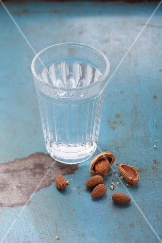A glass of water and 5 almonds to fill the stomach and stabilise blood sugar levels