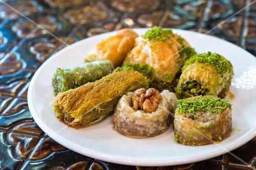 Variations of Turkish baklava